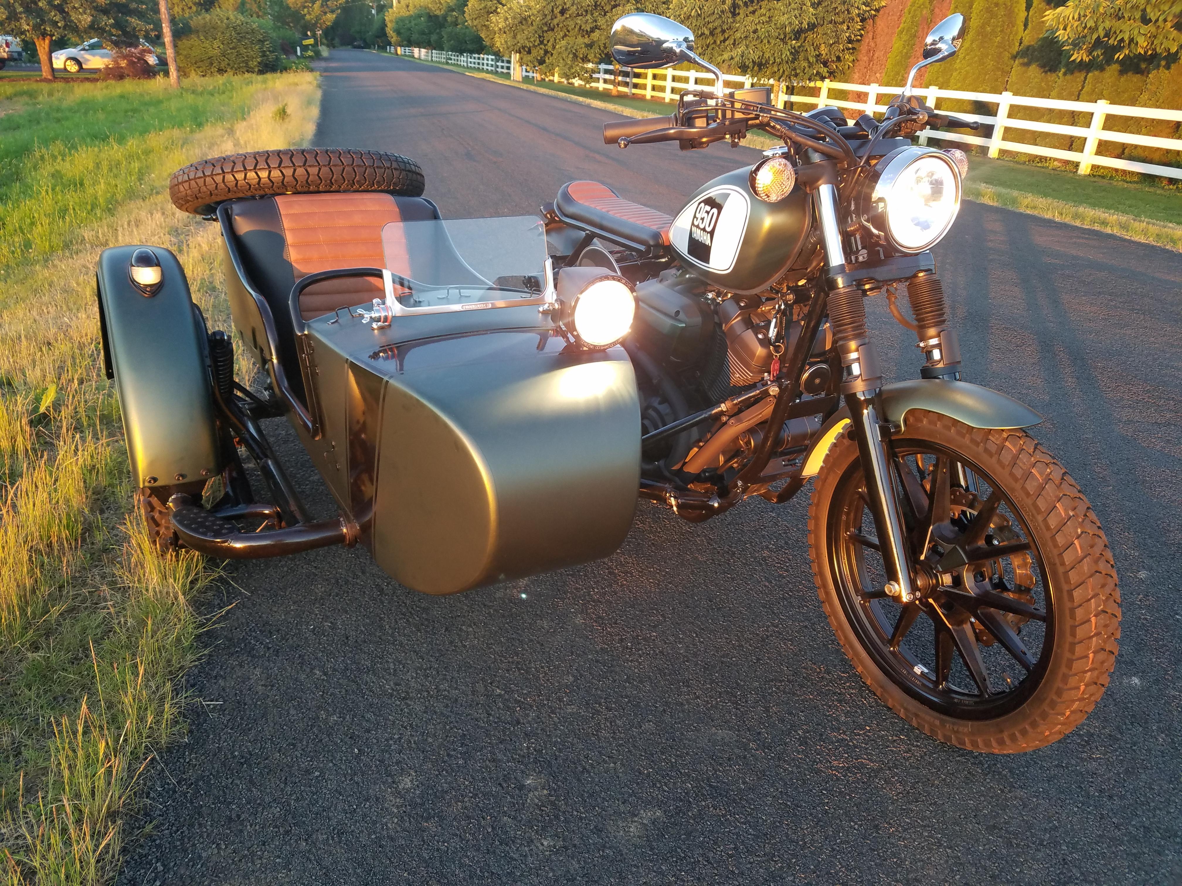 Custom Sidecar Yamaha 950 Bolt Scrambler w Ural – Save On Fun